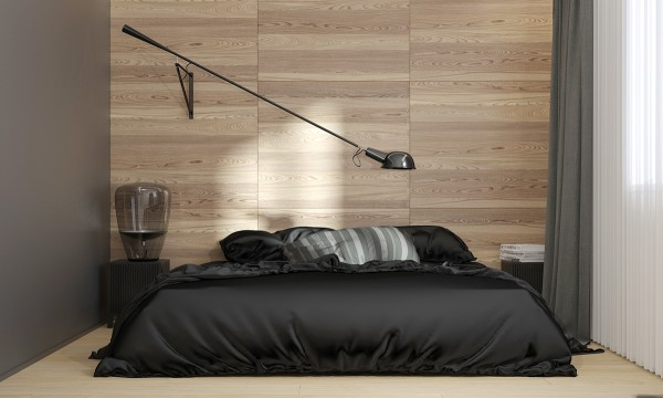 A cool cantilevered reading lamp by Paolo Rizzatto provides task lighting above the bed. The table lamp is from the Balloons line by Lucie Koldova & Dan Yeffet, designed to provide soft ambient lighting – but even in the daytime, these sculptural blown glass fixtures offer unmatched decorative appeal.