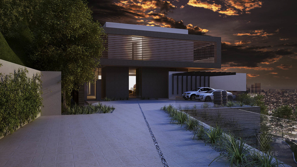 Modern Driveway - Exceptional architecture concepts from vantage design group