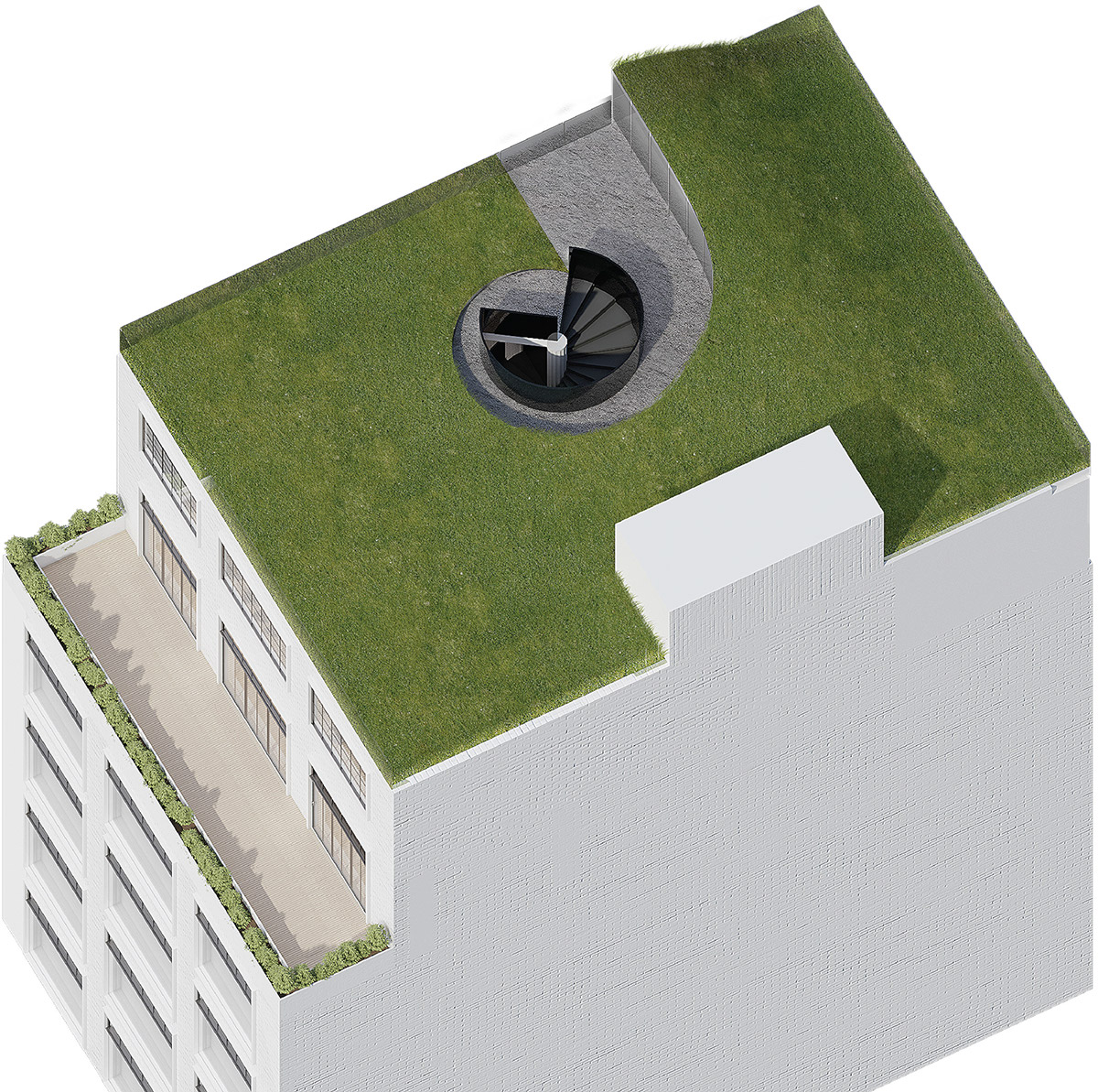 Modern Garden Lawn Concept - 4 ultra luxurious interiors decorated in black and white