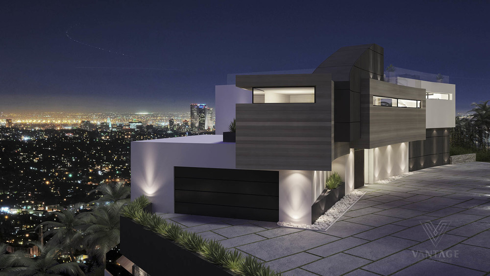 Modern home overlooking city interior design ideas for Modern house design los angeles