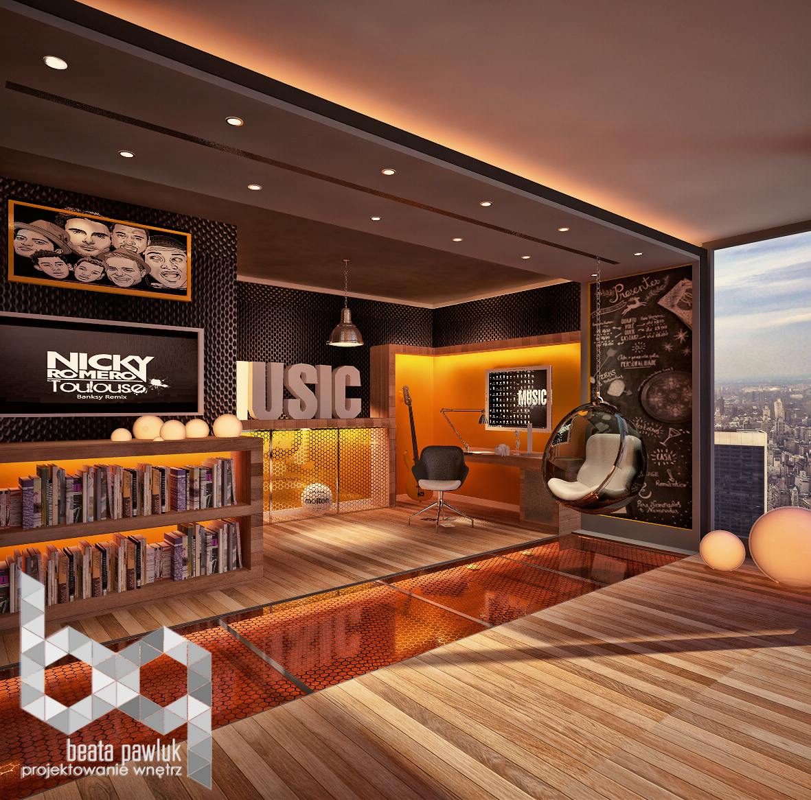 Music Themed Teen Bedroom Interior Design Ideas
