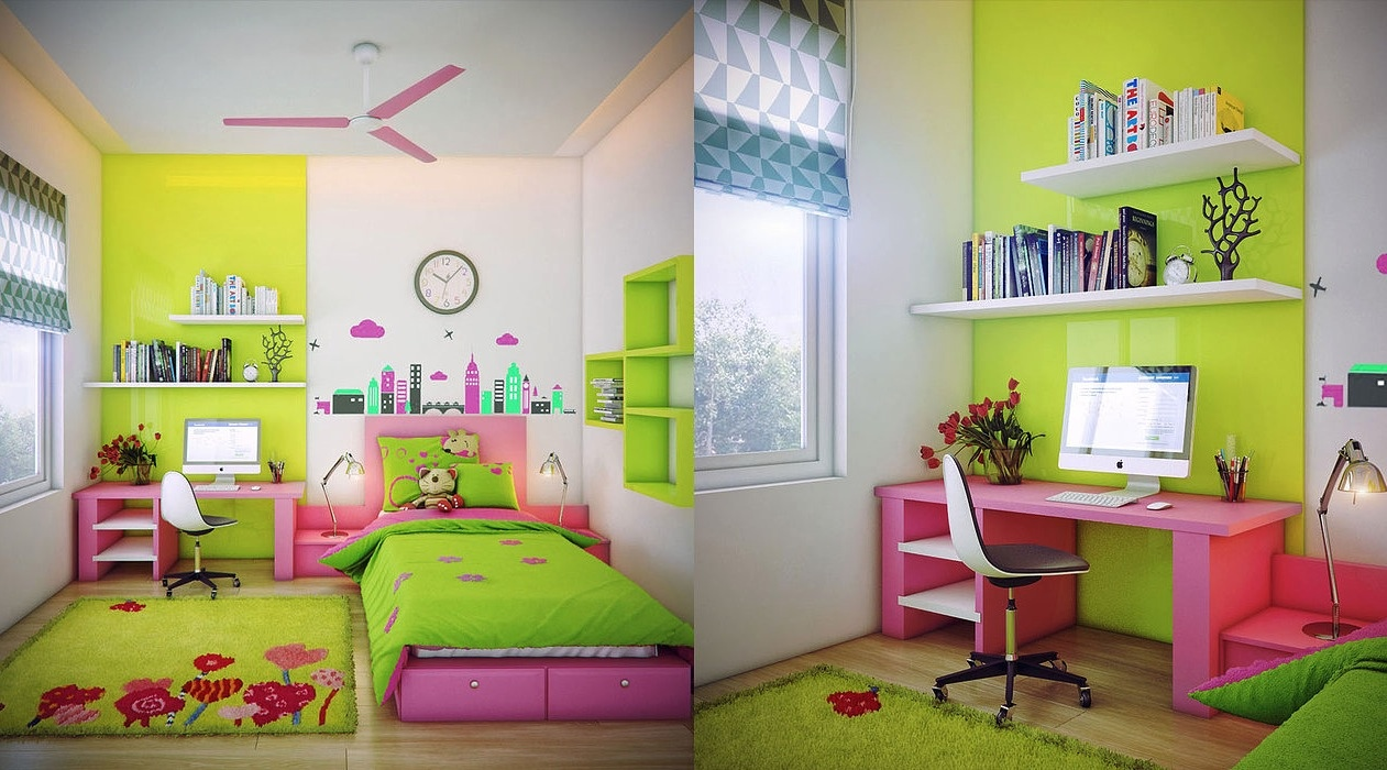 Neon Girls Room Inspiration - Super colorful bedroom ideas for kids and teens