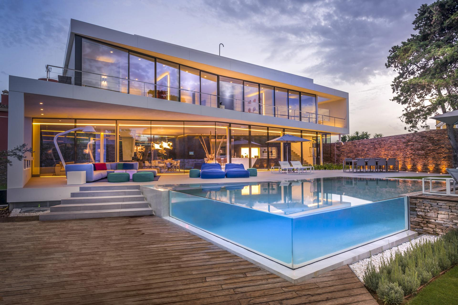 Pool With Glass Walls - A cool beachfront villa with geometric architecture