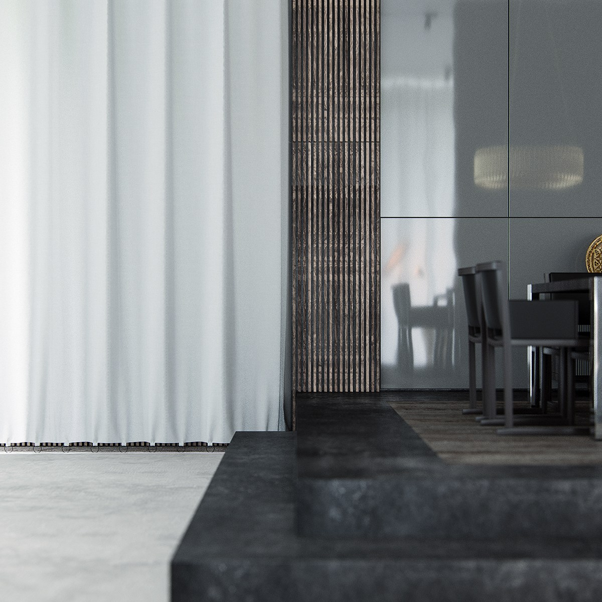 Selection Of Luxury Interior Materials - 3 natural interior concepts with floor to ceiling windows