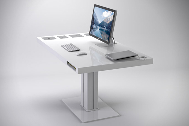 Sit Stand Desk Designs : Sit stand desk interior design ideas