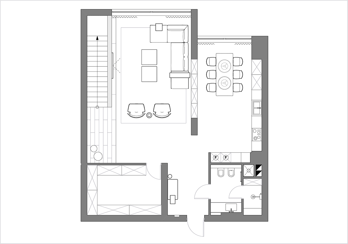 small apartment floorplan interior design ideas