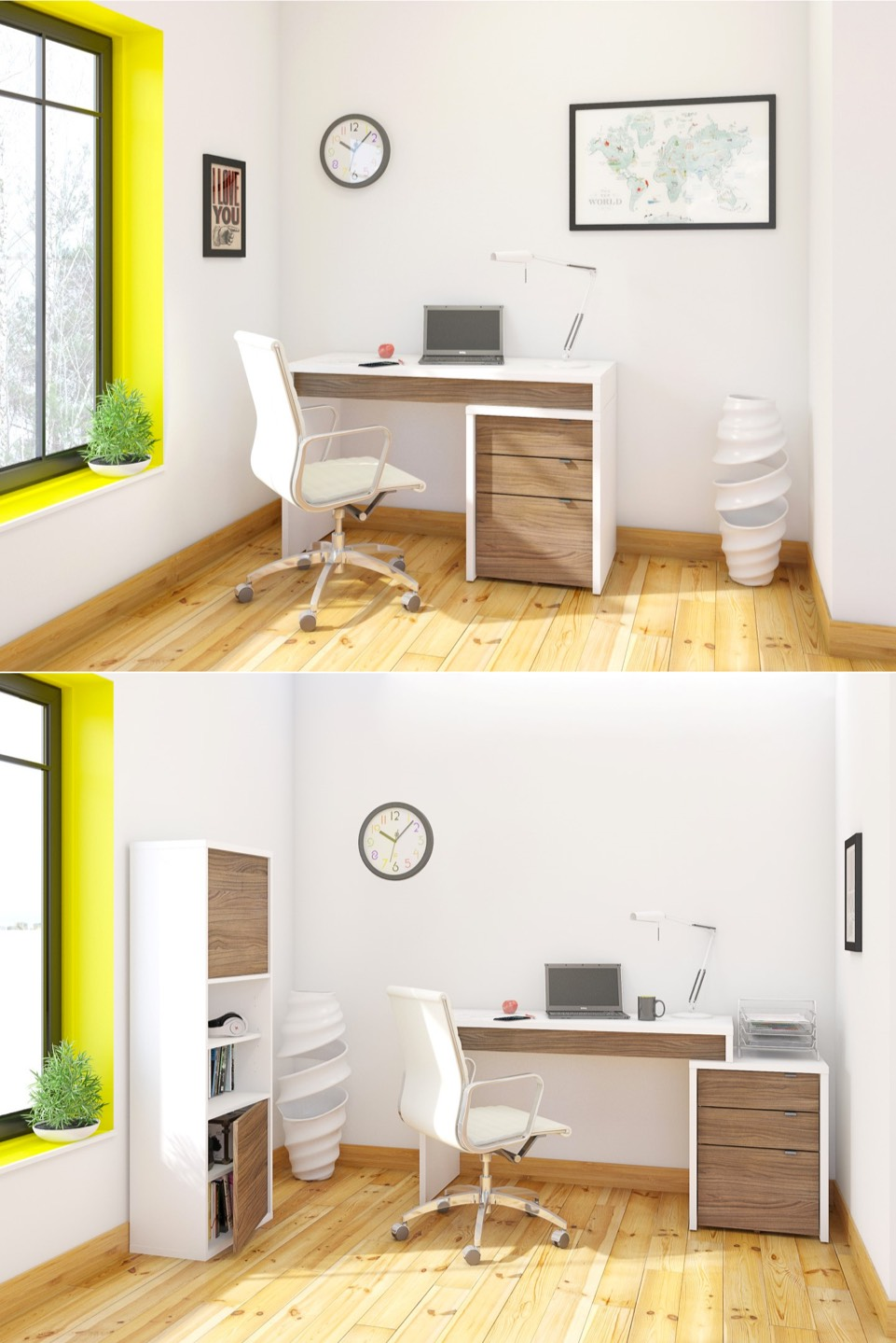 Unique home office desks - Desk for a small space collection ...