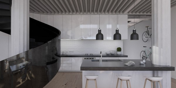 UltraLuxurious Interiors Decorated in Black and White @ Advance