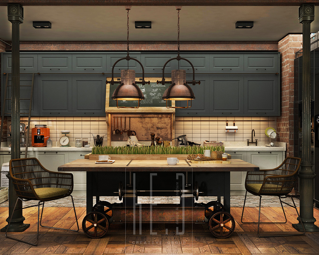 Vintage Inspired Kitchen - 3 stunning homes with exposed brick accent walls