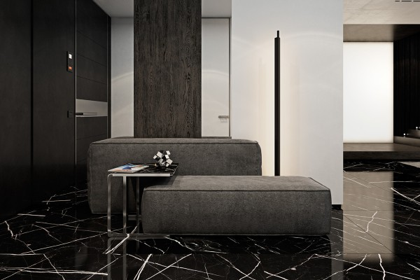 Every spacious hallway could use a waiting area as classy as this one.