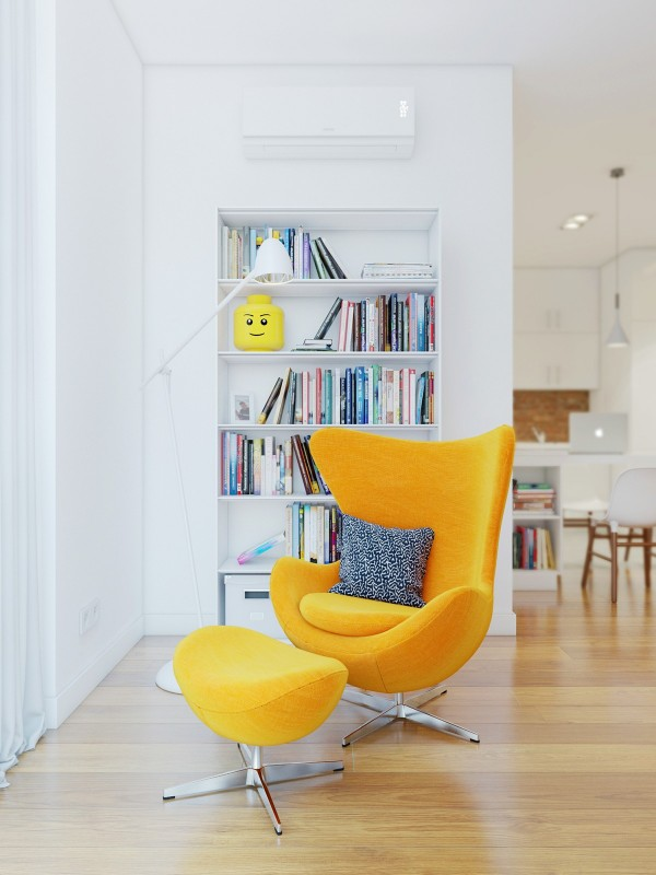 Yellow Egg Chair Interior Design Ideas