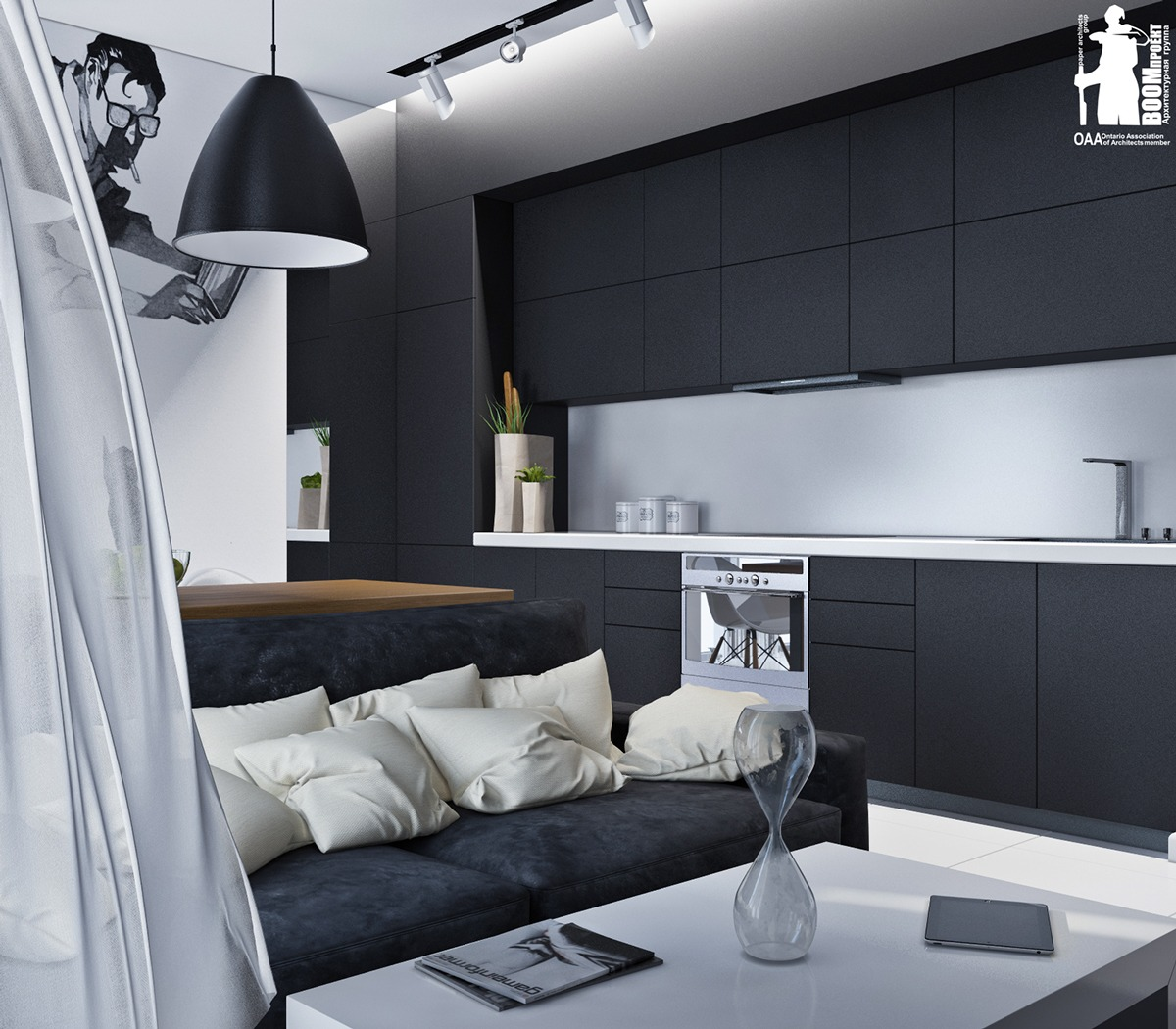 Artistic Monochrome Apartment - Artistic apartments with monochromatic color schemes