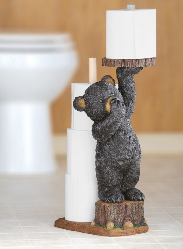 40 cool unique toilet paper holders Animal toilet paper holder