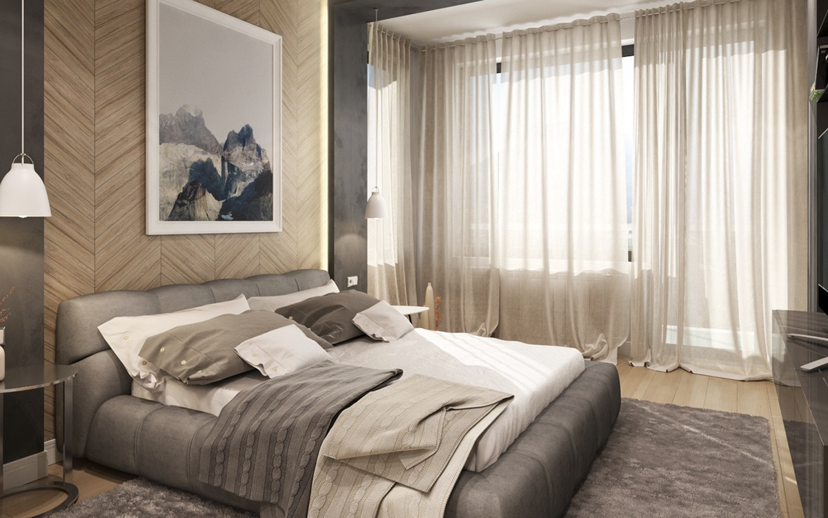 bedroom artwork.  6 Creative Bedrooms With Artwork And Diverse Textures