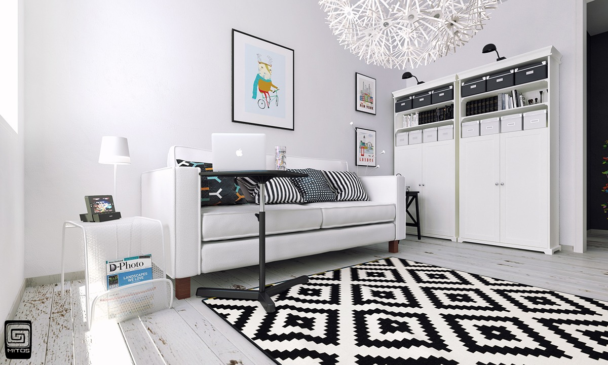 Black And White Ikea Design Inspiration - Artistic apartments with monochromatic color schemes