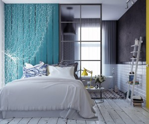 Interior Design Ideas For Bedroom dangle metal 6 Creative Bedrooms With Artwork And Diverse Textures