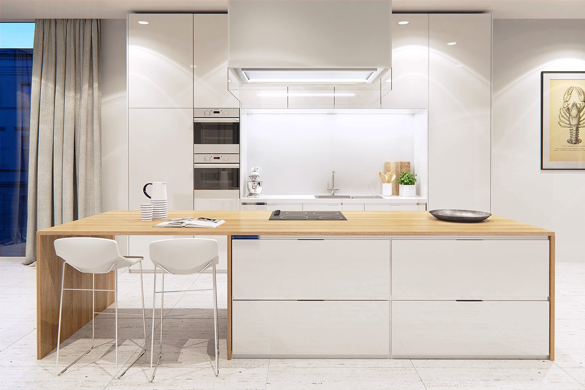 Bright Kitchen Ideas 25 white and wood kitchen ideas