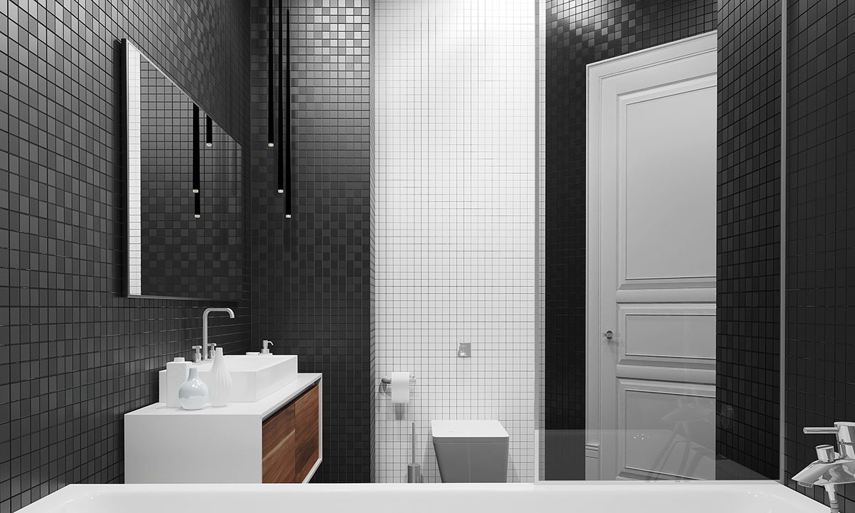 Chic Bathroom Storage - Four homes with four different takes on integrated storage