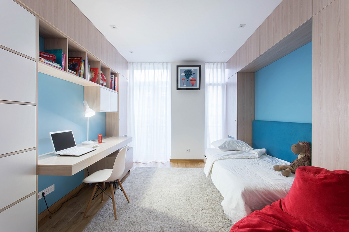Two modern homes with rooms for small children with floor for Two floor bedroom