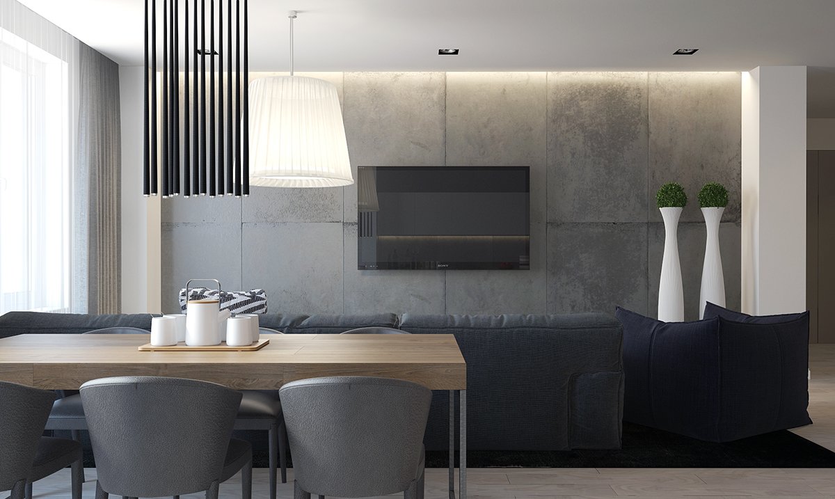 Concrete Interior Texture Inspiration - Four homes with four different takes on integrated storage