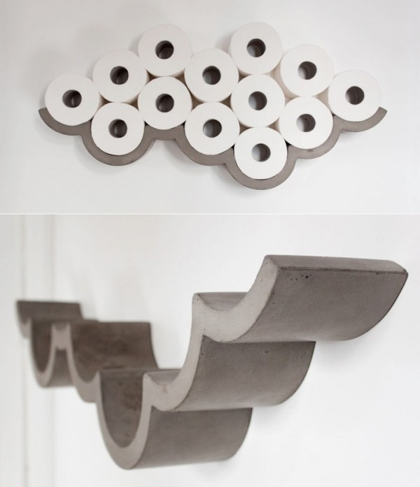 40 cool unique toilet paper holders for Loo roll storage