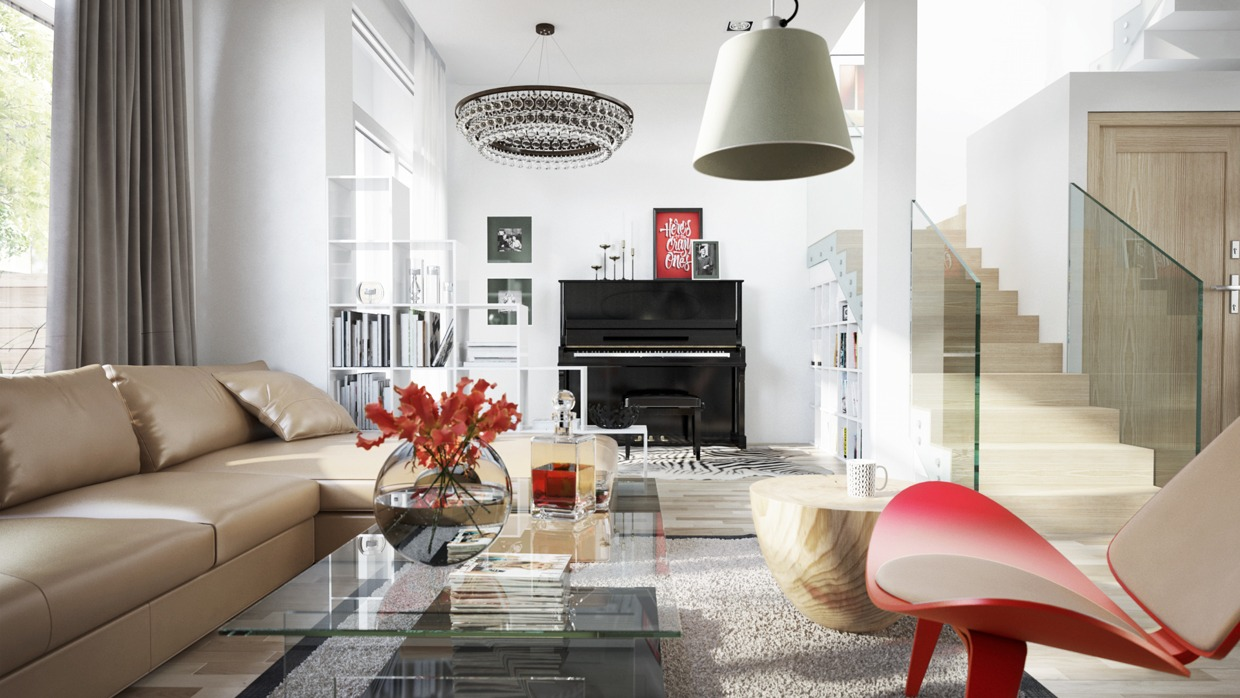 Eclectic Living Room Decor Ideas - Four homes with four different takes on integrated storage