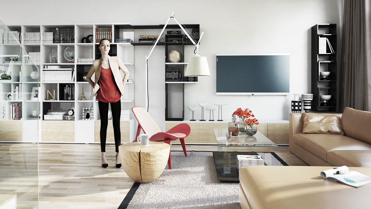 Eclectic Living Room Storage Inspiration - Four homes with four different takes on integrated storage