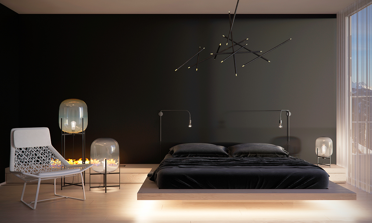 Edison Bulb Bedroom Lamps - Four homes with four different takes on integrated storage