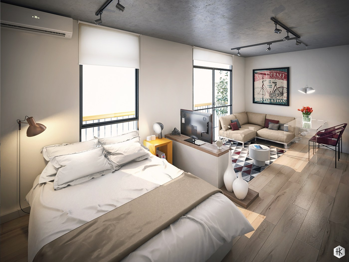 Apartment Design Layout 5 small studio apartments with beautiful design
