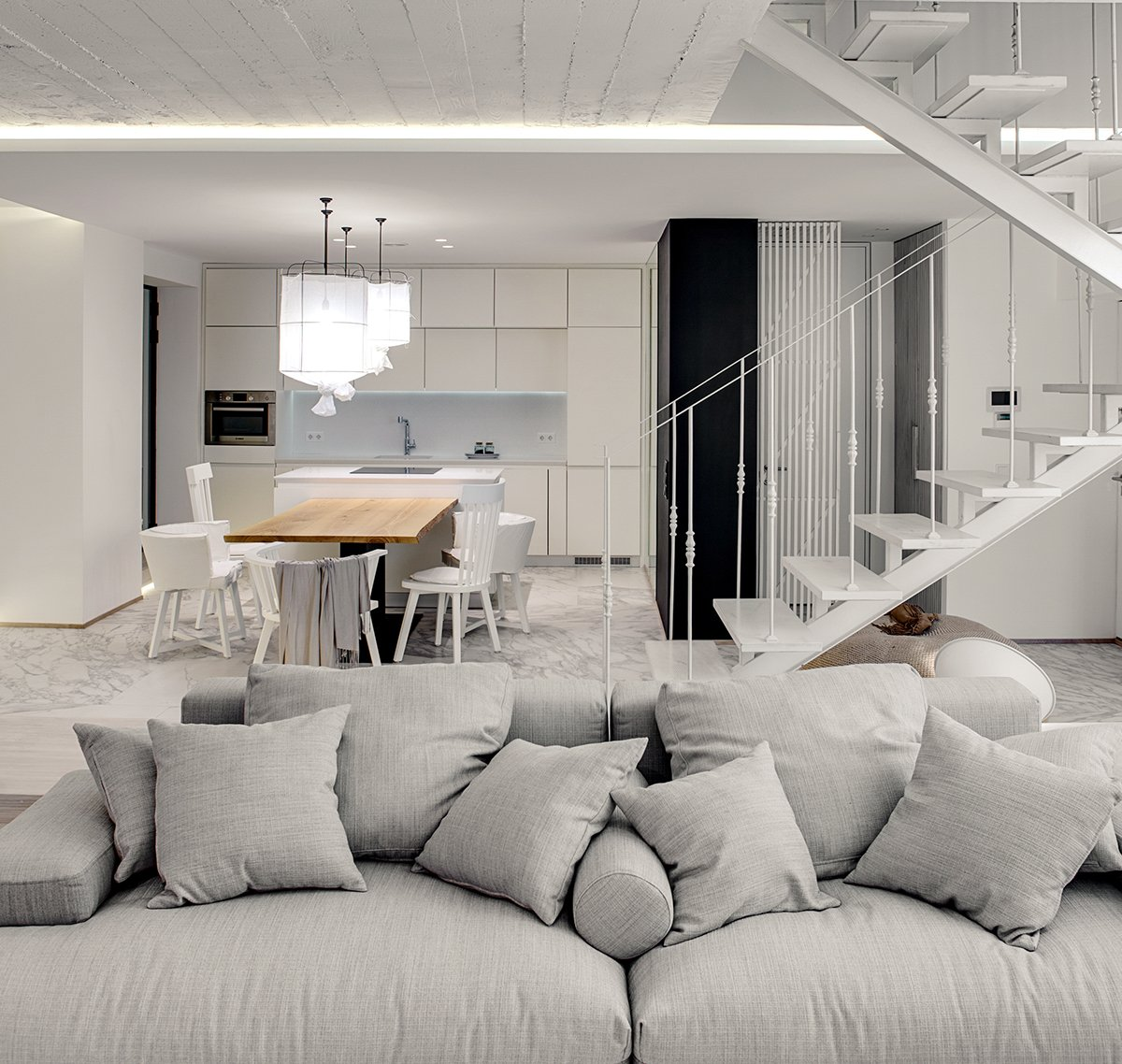 A bright white home with organic details for Exquisite interior designs