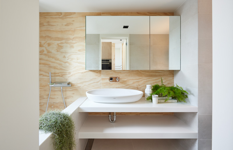 Fern And Moss In The Bathroom Ideas - An incredibly compact house under 40 square meters that uses natural decor