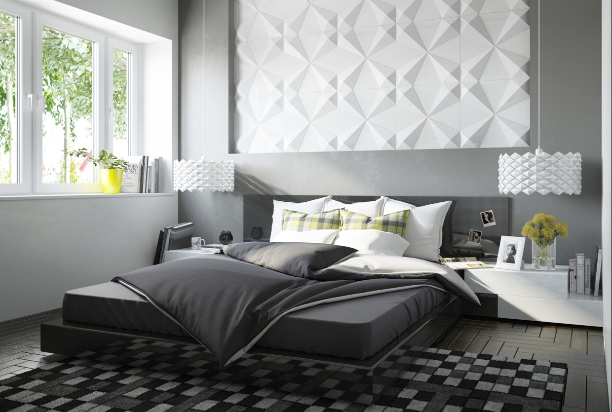 Geometric Bedroom Textures - Four homes with four different takes on integrated storage