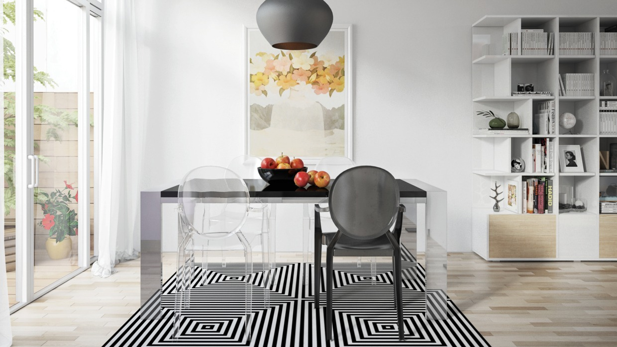 Geometric Dining Room Inspiration - Four homes with four different takes on integrated storage