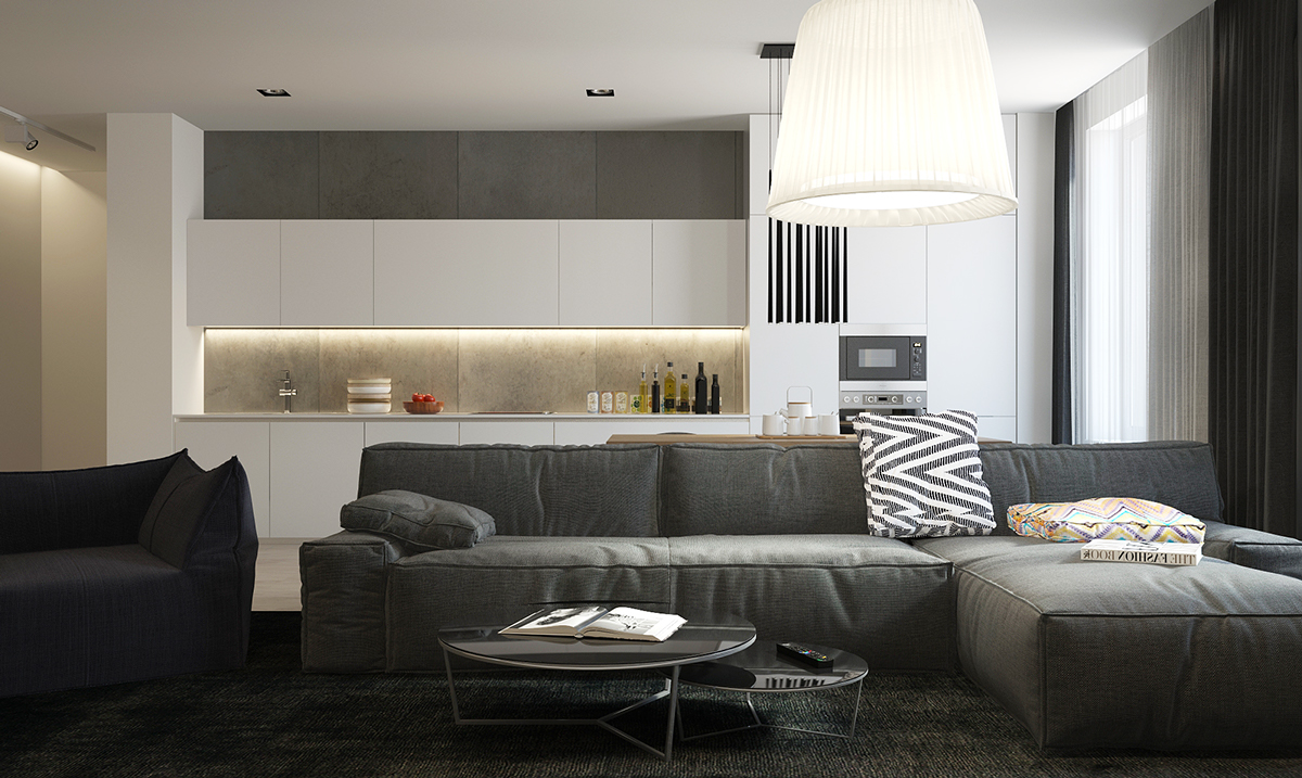 Integrated White And Concrete Kitchen Storage - Four homes with four different takes on integrated storage