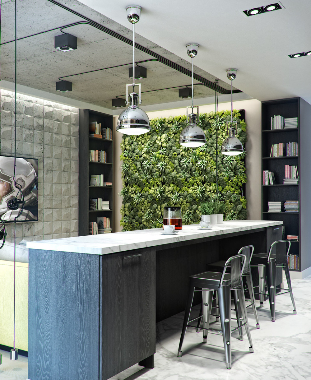 Kitchen Garden Pics: 3 Inspiring Homes With Concrete Ceilings And Wood Floors
