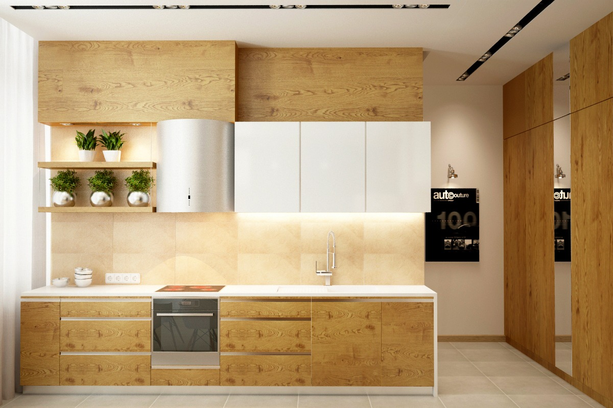 Modern White Wood Kitchen Cabinets 25 White And Wood Kitchen Ideas
