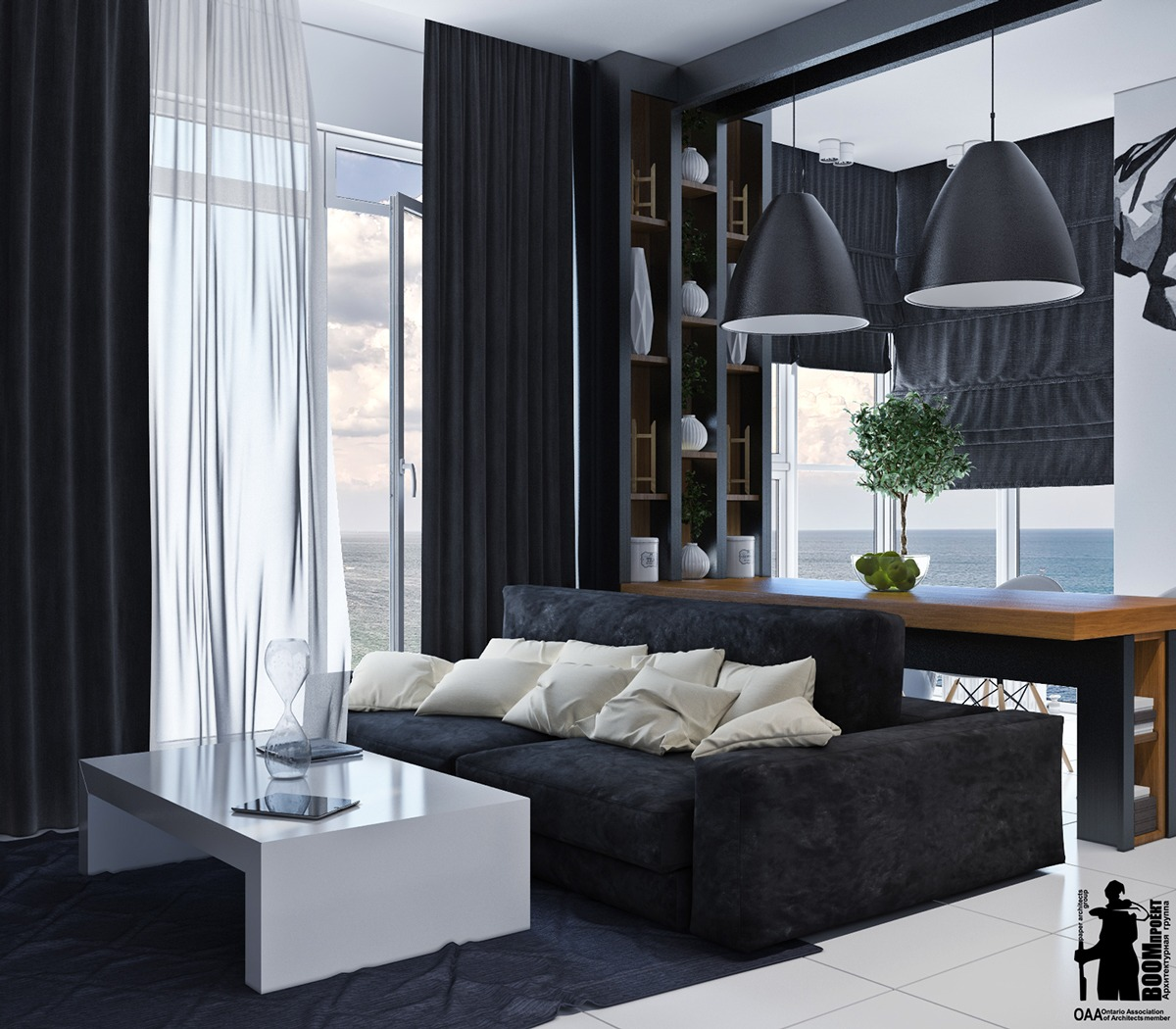 Minimalist Black And White Interior - Artistic apartments with monochromatic color schemes