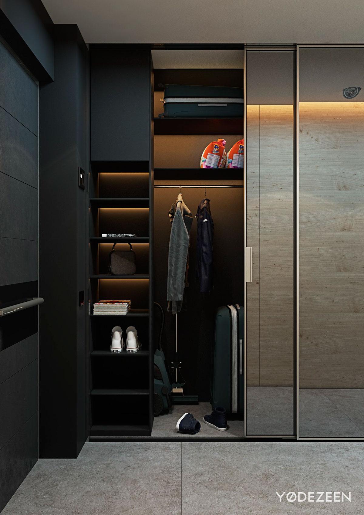 5 small studio apartments with beautiful design for Studio closet design
