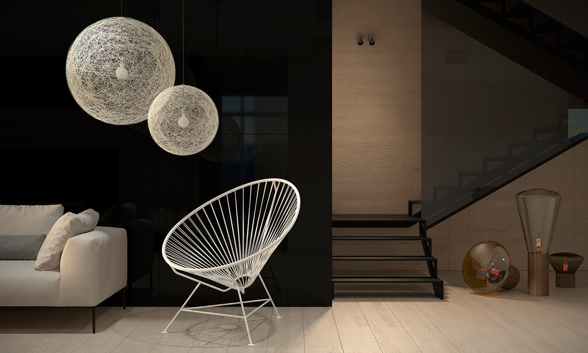 Moooi Lamp And Acapulco Chair - Four homes with four different takes on integrated storage
