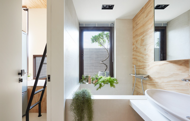 Natural Bathroom Decor Inspiration - An incredibly compact house under 40 square meters that uses natural decor