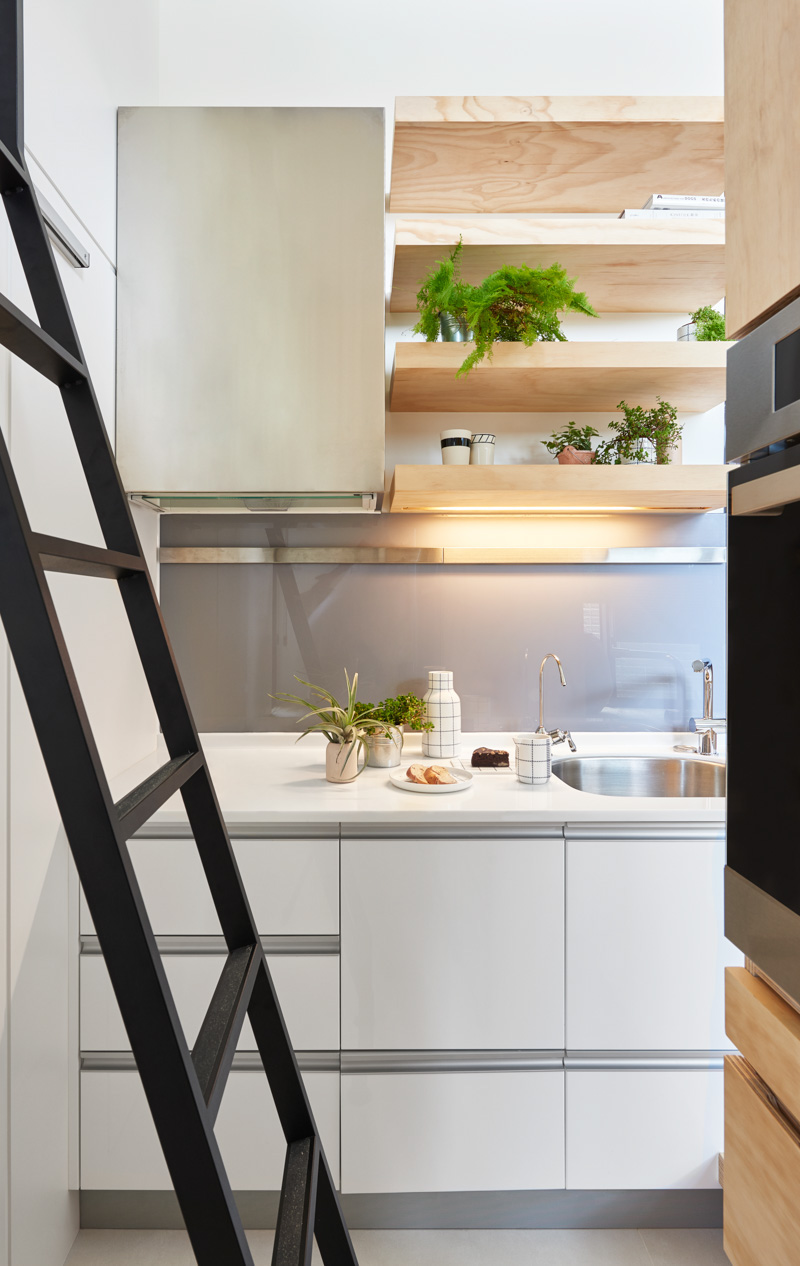 Natural Kitchen Design Ideas - An incredibly compact house under 40 square meters that uses natural decor