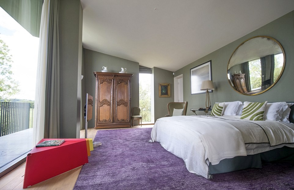 Purple and red bedroom wedge shaped house is britain s house of the year