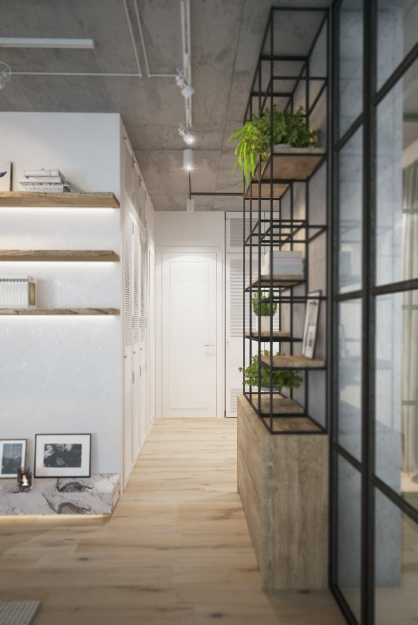 Clever backlighting makes shelves and sideboards stand out but the spaces occupied by gorgeous plants catch the eye well enough that decorative