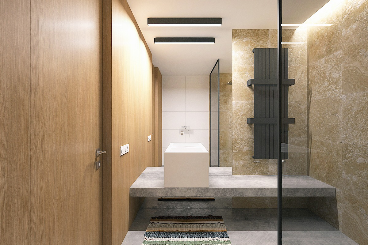 5 small studio apartments with beautiful design Bathroom design for condominium