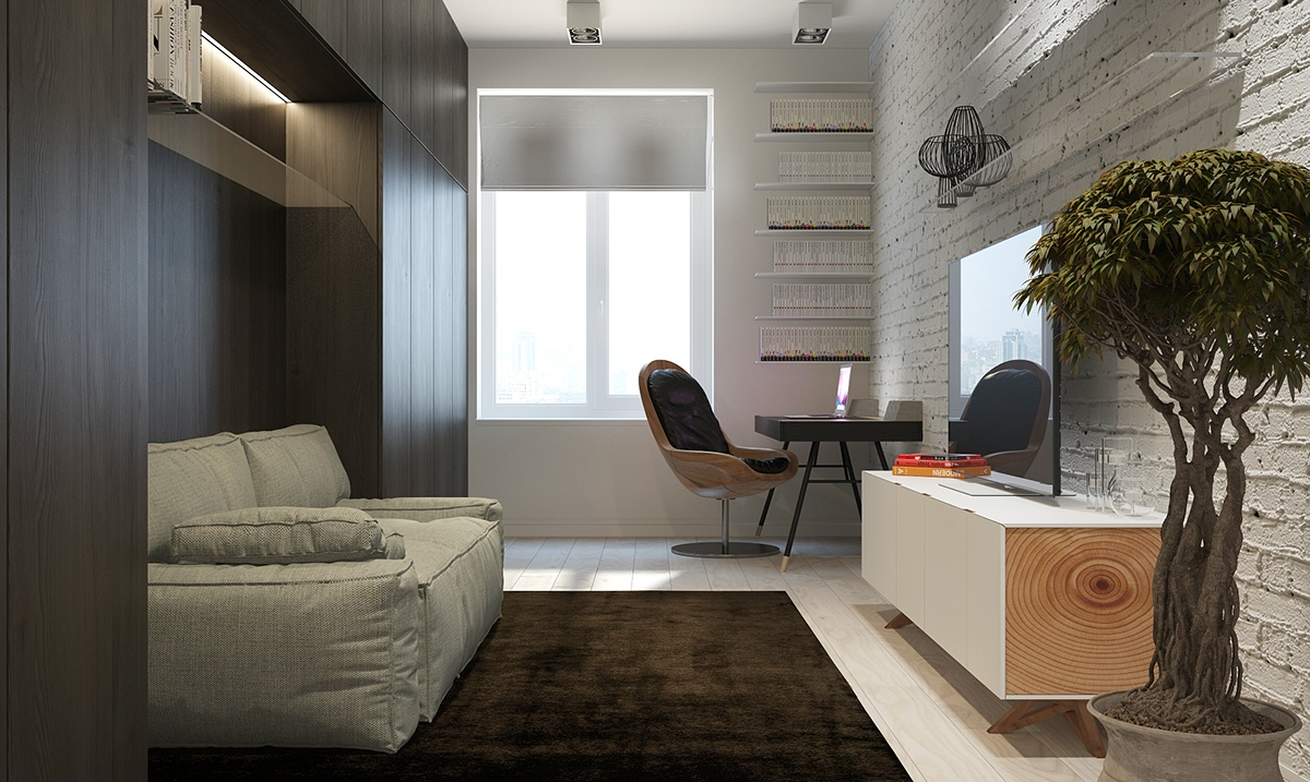 Storage Above Sofa Ideas - Four homes with four different takes on integrated storage