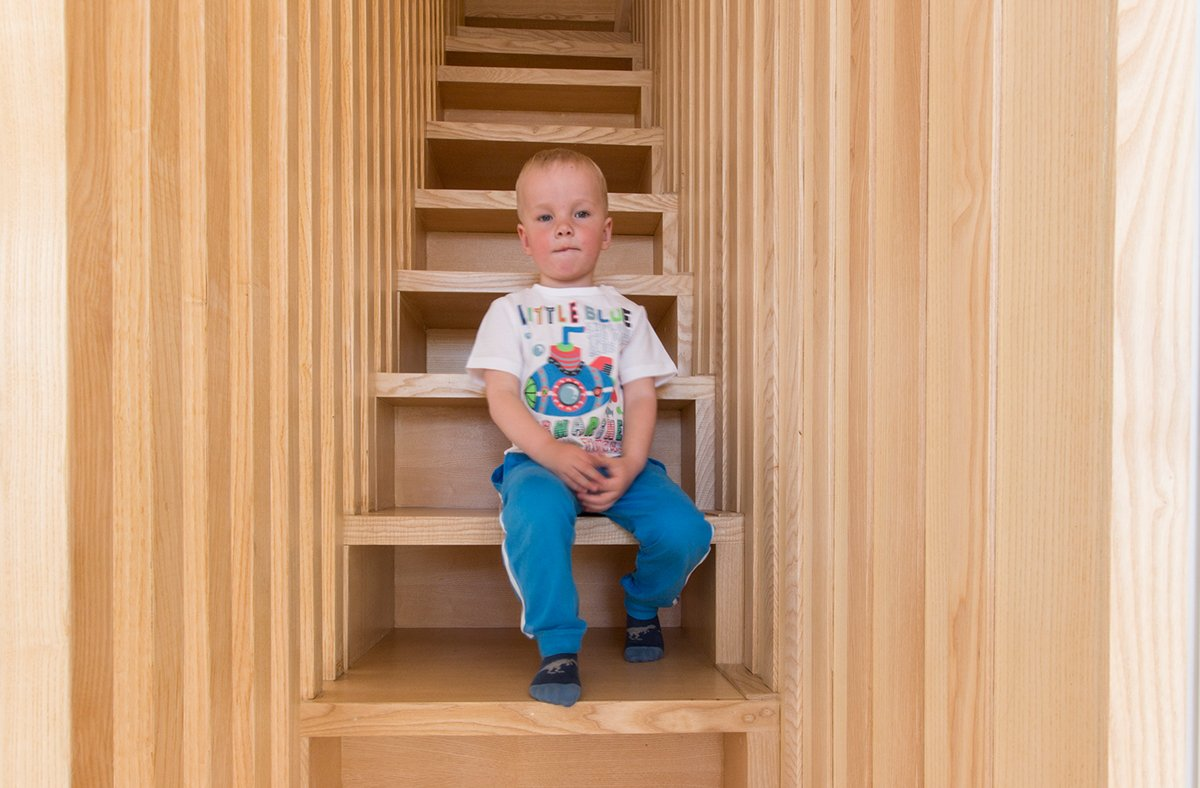 Storage Staircase For Kids - A kid friendly apartment renovation by ruetemple architects