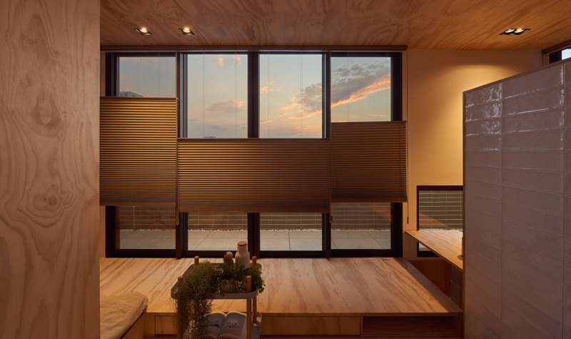 Unique Adjustable Window Shades - An incredibly compact house under 40 square meters that uses natural decor