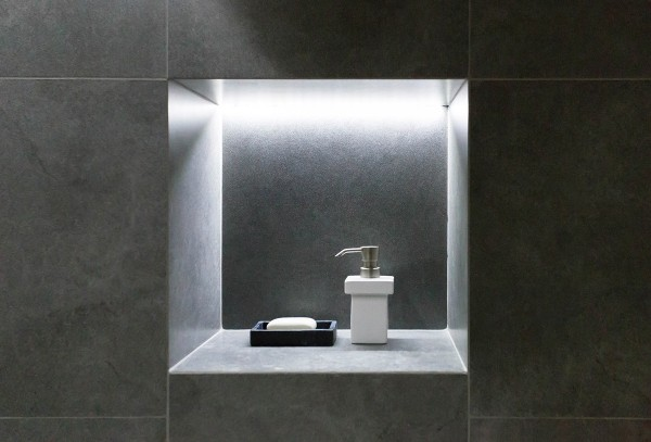 Creative  Niche Shelf And Different Options You Have Bathroom Niche Lighting