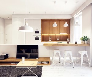 Merveilleux ... 25 White And Wood Kitchen Ideas