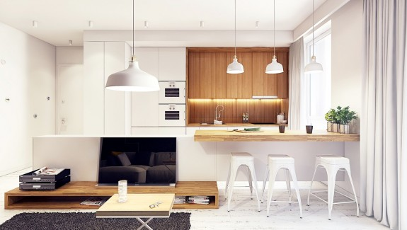 Unique  White And Wood Kitchen Ideas